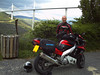 Kevin M and his YZF600R Thundercat with the Milau bridge in the background (Taken earlier this year when I went with a friend to see the MotoGP at Le Mans - we went the long way round via northern Spain and across the Pyranees).